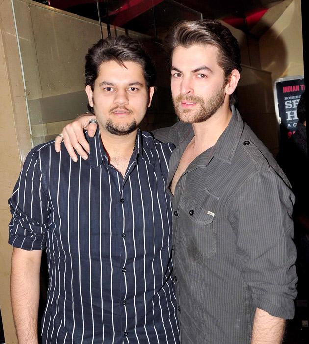 Neil Nitin Mukesh with his brother Naman at the premiere
