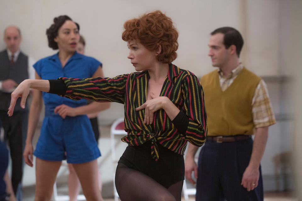Williams as Gwen Verdon in the FX series 'Fosse/Verdon' (Photo: Eric Liebowitz / ©FX / Courtesy: Everett Collection)