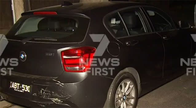 At least four cars were damaged in the collisions. Photo: 7 News