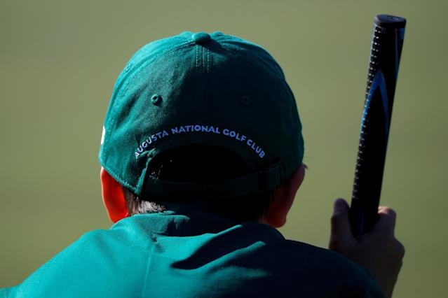REFILE - CORRECTING TYPO Luke Parsons looks over his putt in the boys 7-9 year old Drive, Chip and Putt National Finals at Augusta National Golf Club in Augusta, Georgia, U.S., April 1, 2018. REUTERS/Brian Snyder