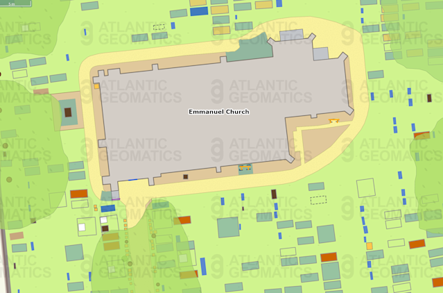 The system shows information for each grave (Atlantic Geomatics)