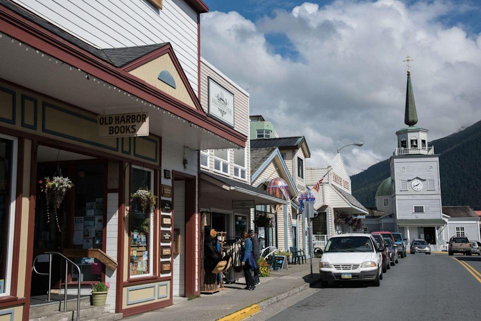 """<p>Even though <a href=""""https://go.redirectingat.com?id=74968X1596630&url=https%3A%2F%2Fwww.tripadvisor.com%2FTourism-g60966-Sitka_Alaska-Vacations.html&sref=https%3A%2F%2Fwww.esquire.com%2Flifestyle%2Fg35036575%2Fsmall-american-town-destinations%2F"""" rel=""""nofollow noopener"""" target=""""_blank"""" data-ylk=""""slk:this town"""" class=""""link rapid-noclick-resp"""">this town</a> is hard to get to (it's only accessible by air or sea!), once you arrive you'll be pleasantly surprised by how unique it is. It's nestled amongst a spruce and hemlock rain forest <em>and </em>sea life. Go on a tour to spot humpback whales.</p>"""