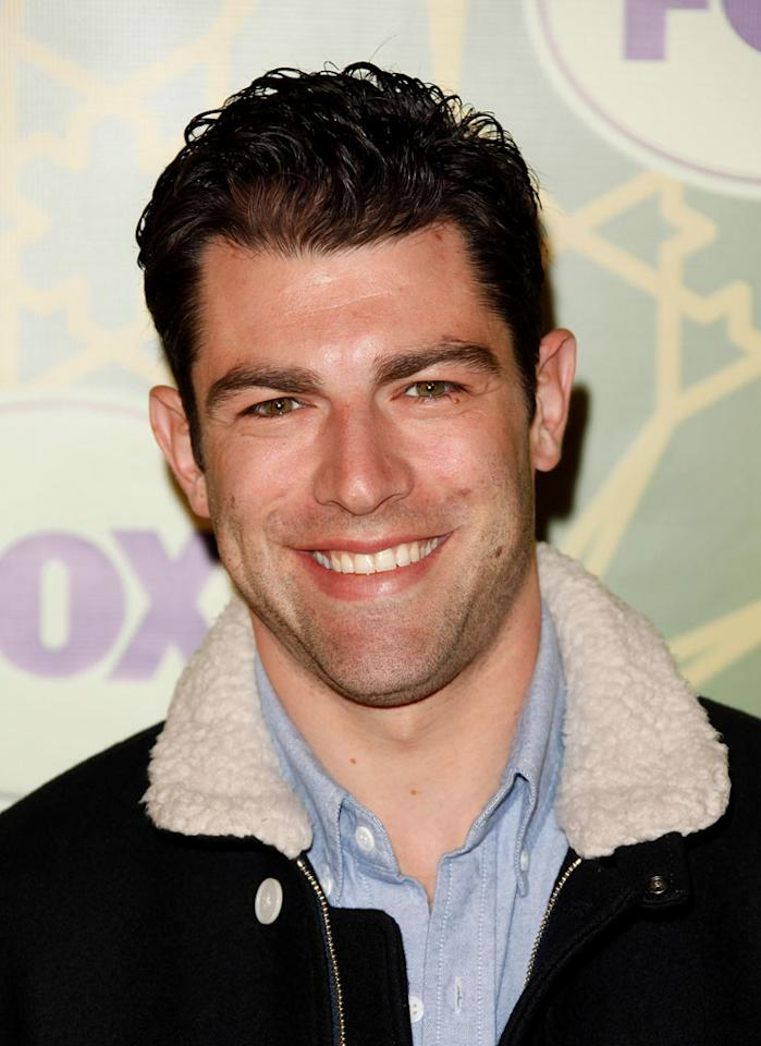 """<a href=""""/max-greenfield/contributor/460775"""">Max Greenfield</a> (""""<a href=""""/new-girl/show/47384"""">New Girl</a>"""") attends the 2012 Fox Winter TCA All-Star Party at Castle Green on January 8, 2012 in Pasadena, California."""