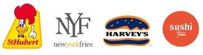 St. Hubert, New York Fries, Harvey's, and Sushi Taxi (CNW Group/Recipe Unlimited Corp.)
