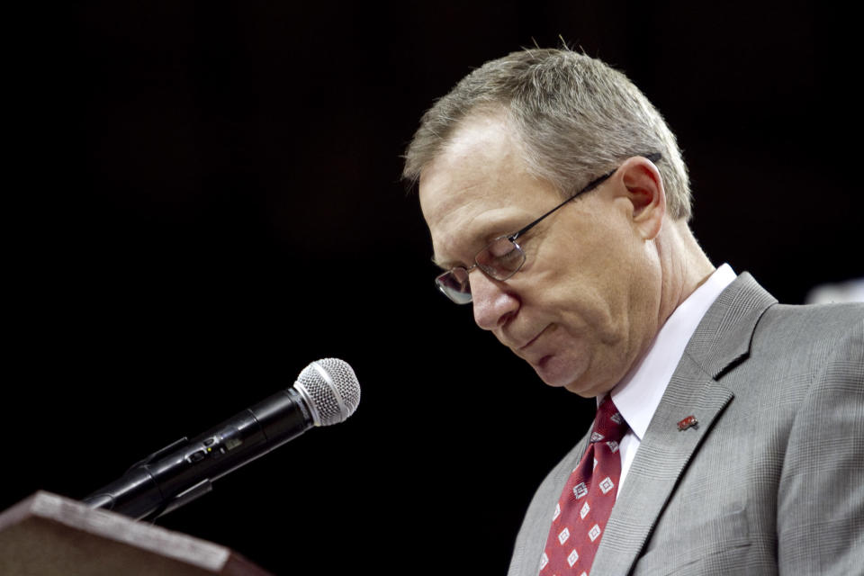 Kansas hired Jeff Long as its new athletic director on Thursday. (AP Photo/Gareth Patterson, File)