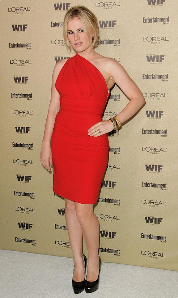 "Her scandalous show didn't take home the trophy for Outstanding Drama Series last weekend, but Anna Paquin certainly deserves acclaim for rocking this $1,150 Preen ""Plaza"" dress to the 2010 <i>Entertainment Weekly</i> and Women in Film pre-Emmy party. Todd Williamson/<a href=""http://www.gettyimages.com/"" target=""new"">GettyImages.com</a> - August 27, 2010"