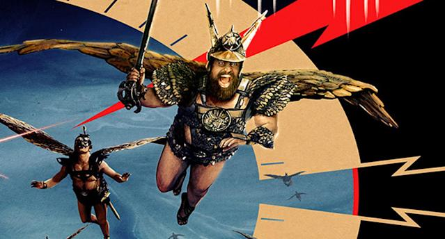Brian Blessed takes flight in detail from the new Flash Gordon art work. (Studiocanal)