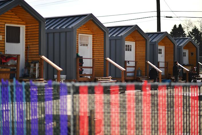 A tiny house community for formerly homeless people in Denver. (Photo: Hyoung Chang/MediaNews Group/The Denver Post via Getty Images via Getty Images)