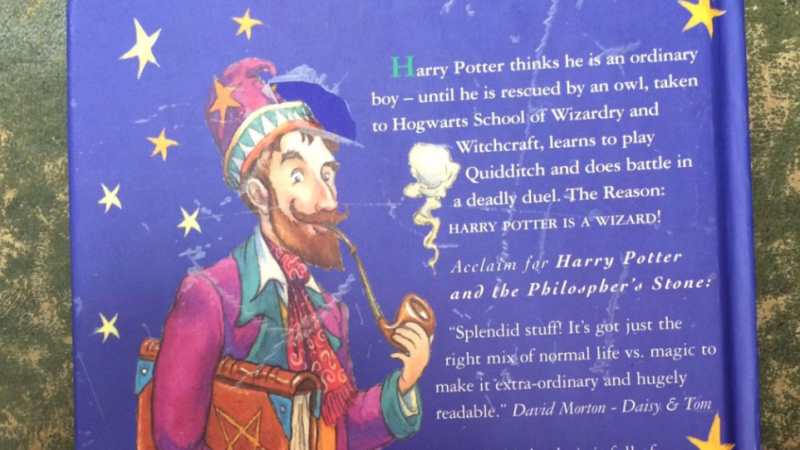 There is also a mispelling of philosopher on the back. Source: Hansons