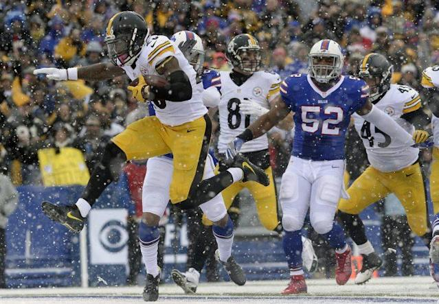 Le'Veon Bell had a huge game in a win over the Bills. (AP)
