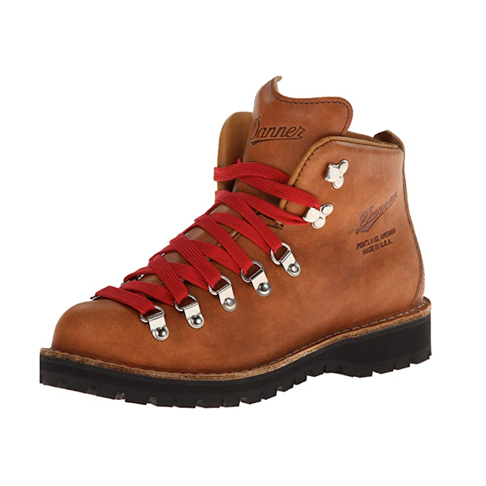 """You might already recognize the red laces of these Danner hiking boots, which are famously comfortable <em>and</em> cute. They're fully waterproof and ideal for trekking through muddy trails, slippery sidewalks, and giant leaf piles alike. $360, Amazon. <a href=""""https://www.amazon.com/Danner-Womens-Mountain-Cascade-Hiking/dp/B00K230CZI/"""" rel=""""nofollow noopener"""" target=""""_blank"""" data-ylk=""""slk:Get it now!"""" class=""""link rapid-noclick-resp"""">Get it now!</a>"""