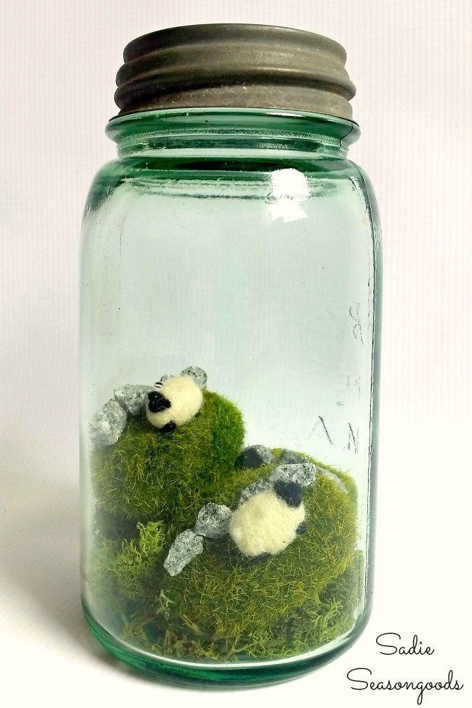 """<p>What better way to celebrate the holiday than with a St. Patrick's Day craft that honors Ireland itself? Recreate the country's serene landscape with a Mason jar <a href=""""https://www.countryliving.com/diy-crafts/how-to/g928/make-terrarium-0410/"""" rel=""""nofollow noopener"""" target=""""_blank"""" data-ylk=""""slk:terrarium"""" class=""""link rapid-noclick-resp"""">terrarium</a> complete with moss, gravel, and tiny felt sheep!</p><p><strong>Get the tutorial at <a href=""""http://www.sadieseasongoods.com/eire-go-bragh-ireland-in-a-jar/"""" rel=""""nofollow noopener"""" target=""""_blank"""" data-ylk=""""slk:Sadie Seasongoods"""" class=""""link rapid-noclick-resp"""">Sadie Seasongoods</a>. </strong></p>"""