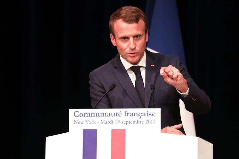 French President Emmanuel Macron called for an end to the harassment of women during his election campaign: af
