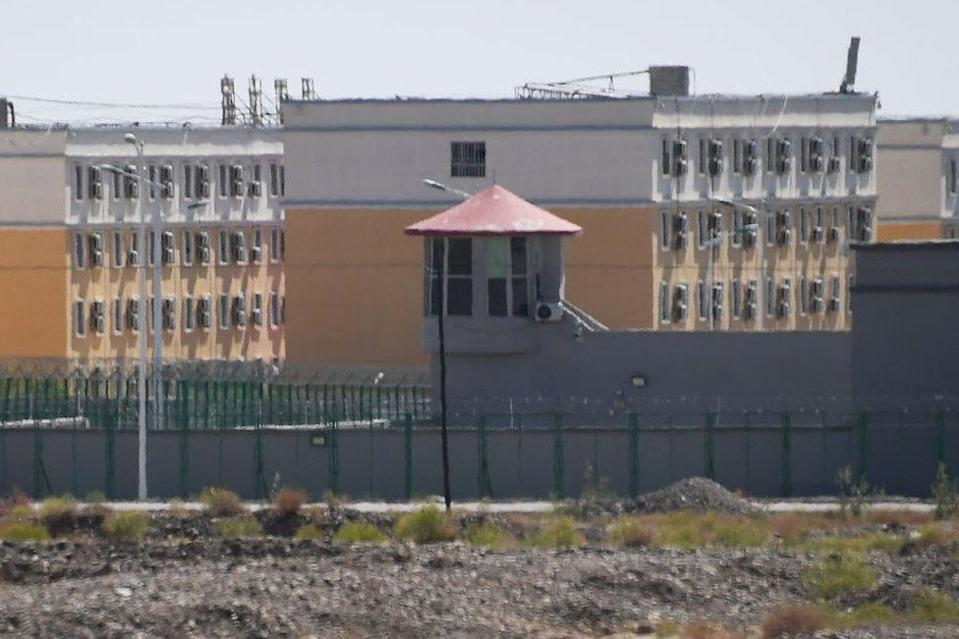 This photo taken on June 2, 2019, shows buildings at the Artux City Vocational Skills Education Training Service Center, believed to be a re-education camp where mostly Muslim ethnic minorities are detained, north of Kashgar in China's north-western Xinjiang region.