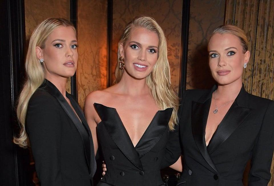 Lady Amelia Spencer, Lady Kitty Spencer and Lady Eliza Spencer attend the Perfect Magazine and NoMad London Fashion Week party celebrating Perfect Issue One 'Joy' (Dave Benett/Getty Images for NoMad London)