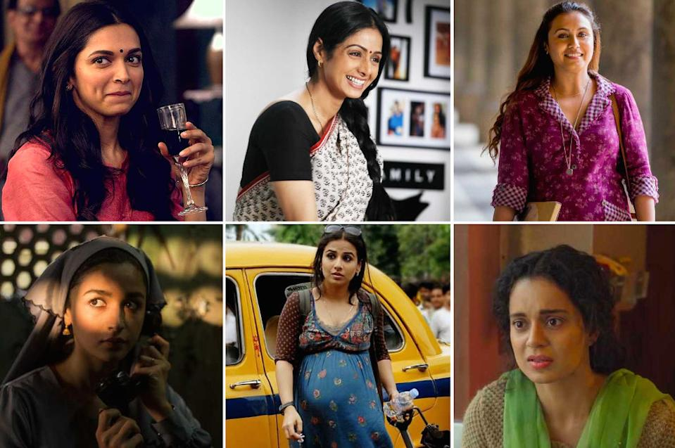 Sharp undercover agents, resolute housewives, and successful career women -- here are some of the most memorable performances from Bollywood's leading ladies.