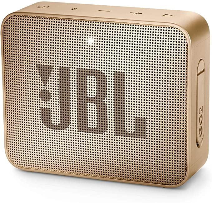 <p>The <span>JBL GO2 Waterproof Ultra Portable Bluetooth Speaker</span> ($40) comes in so many different colors, you can choose the best one for your aesthetic!</p>