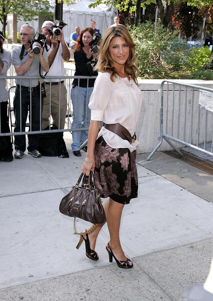 "Jennifer Esposito illustrates the problem of having too many matching accessories. James Devaney/<a href=""http://www.wireimage.com"" target=""new"">WireImage.com</a> - May 15, 2007"
