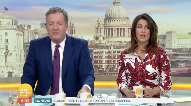 Piers Morgan and Susanna Reid claimed that television was the only window into the world people over a certain age have (ITV)