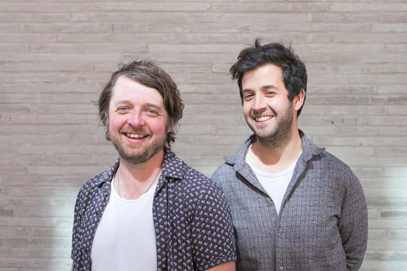 Game boys: Sam Herlihy, right, and James Ramsden, far right who are opening their second restaurant, Magpie, in Soho: Matt Writtle
