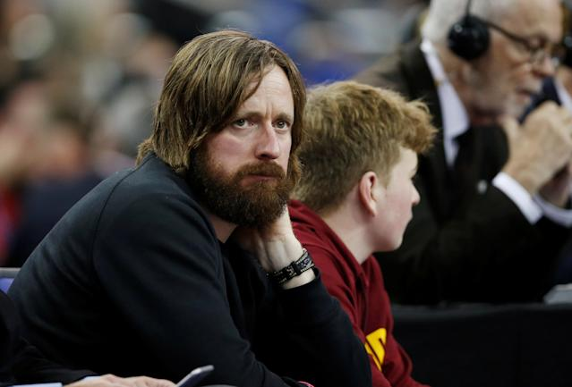Basketball - NBA - Boston Celtics vs Philadelphia 76ers - O2 Arena, London, Britain - January 11, 2018 Bradley Wiggins at the game REUTERS/Matthew Childs
