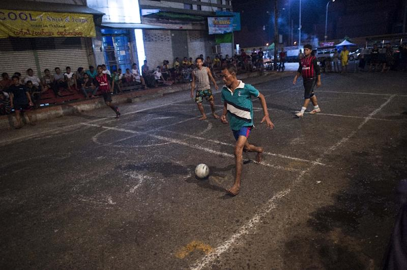 A lack of facilities is proving an obstacle to reinvigorating football in Myanmar, once an Asian powerhouse (AFP Photo/YE AUNG THU)