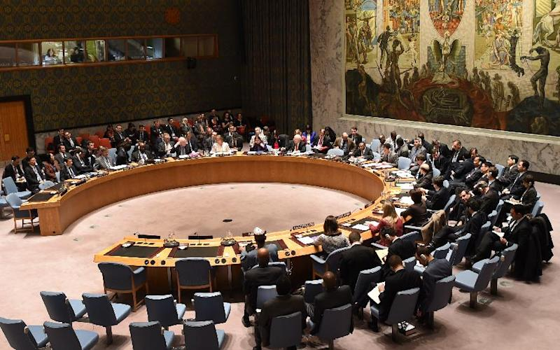 Delegates gather during a Security Council meeting regarding human rights violations in North Korea on December 22, 2014 at the United Nations in New York (AFP Photo/Don Emmert)