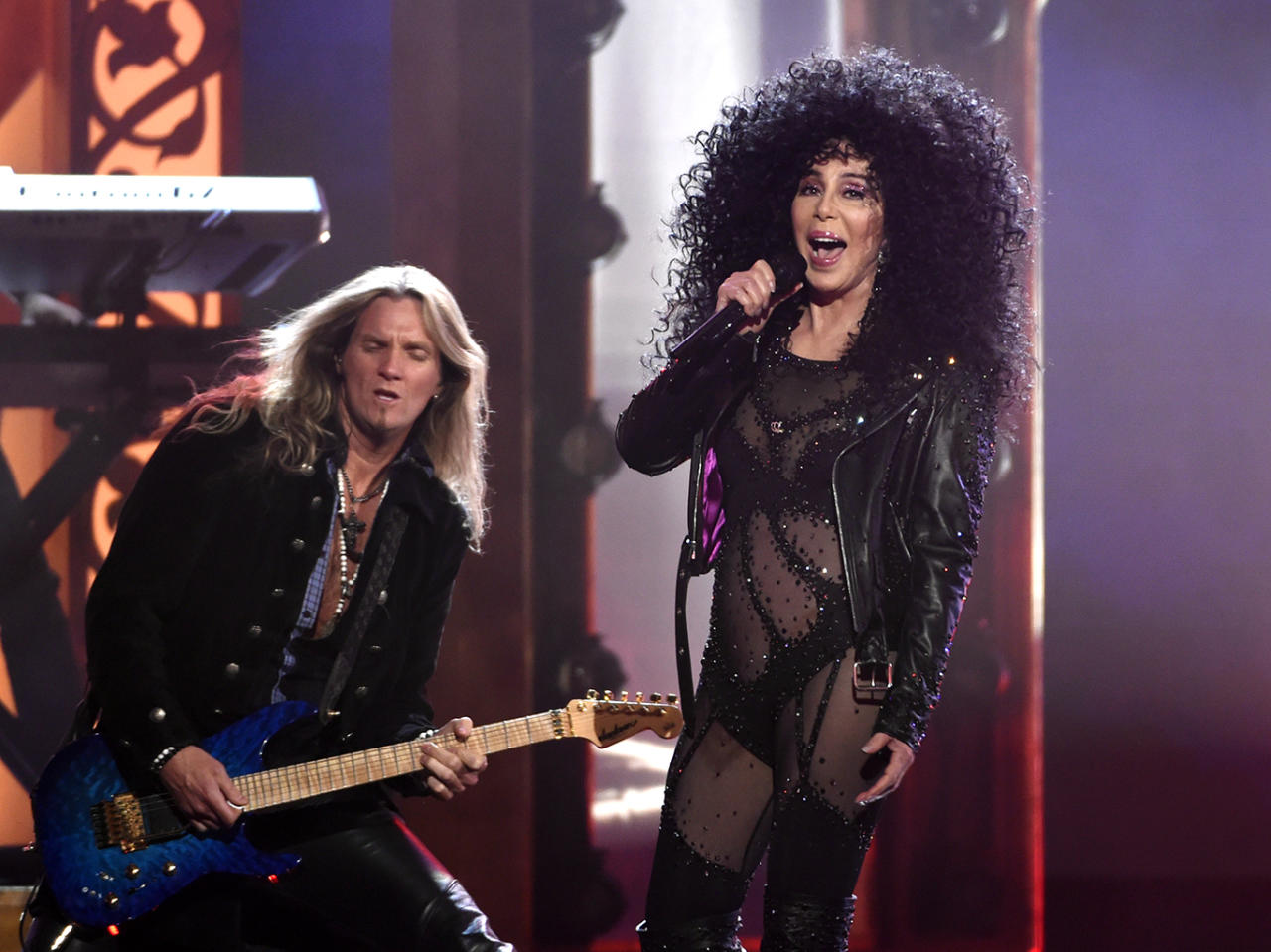 <p>Cher performs at the Billboard Music Awards at the T-Mobile Arena on Sunday, May 21, 2017, in Las Vegas. (Photo by Chris Pizzello/Invision/AP) </p>