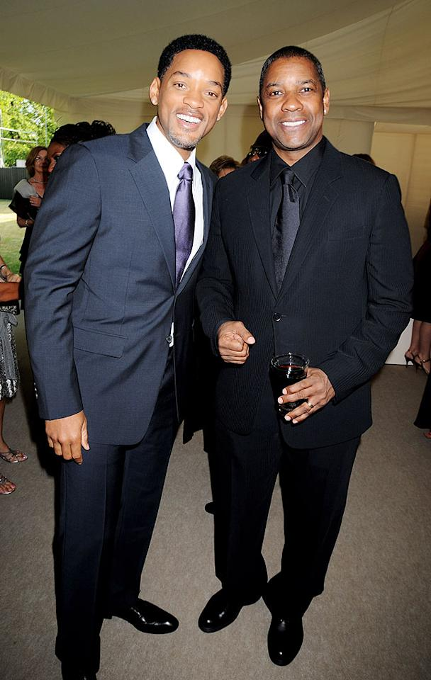 """Will Smith and Denzel Washington attended Nelson Mandela's 90th birthday dinner at Hyde Park in London. The event raised funds for global charity projects. Dave M. Benett/<a href=""""http://www.wireimage.com"""" target=""""new"""">WireImage.com</a> - June 25, 2008"""