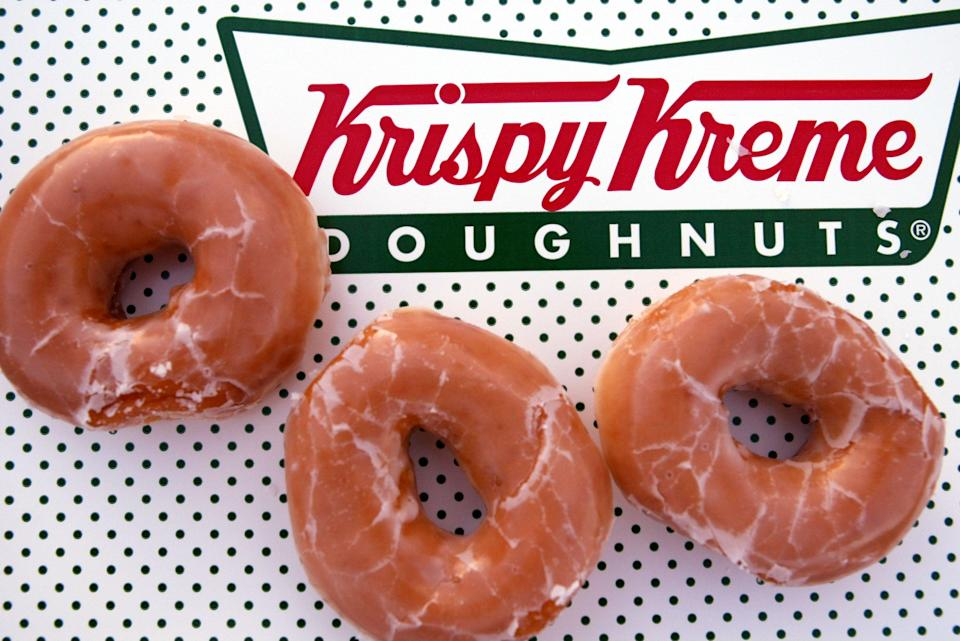 Glazed Krispy Kreme doughnuts (Getty Images)