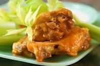 """<p>Is it even the Super Bowl if you don't have wings? Try this simple recipe—you only need five ingredients!</p><p><strong><a href=""""https://www.thepioneerwoman.com/food-cooking/recipes/a9881/wings/"""" rel=""""nofollow noopener"""" target=""""_blank"""" data-ylk=""""slk:Get the recipe."""" class=""""link rapid-noclick-resp"""">Get the recipe.</a></strong></p><p><strong><a class=""""link rapid-noclick-resp"""" href=""""https://go.redirectingat.com?id=74968X1596630&url=https%3A%2F%2Fwww.walmart.com%2Fbrowse%2Fhome%2Fthe-pioneer-woman-cookware%2F4044_623679_6182459_9190581&sref=https%3A%2F%2Fwww.thepioneerwoman.com%2Ffood-cooking%2Fmeals-menus%2Fg35049189%2Fsuper-bowl-food-recipes%2F"""" rel=""""nofollow noopener"""" target=""""_blank"""" data-ylk=""""slk:SHOP COOKWARE"""">SHOP COOKWARE</a><br></strong></p>"""