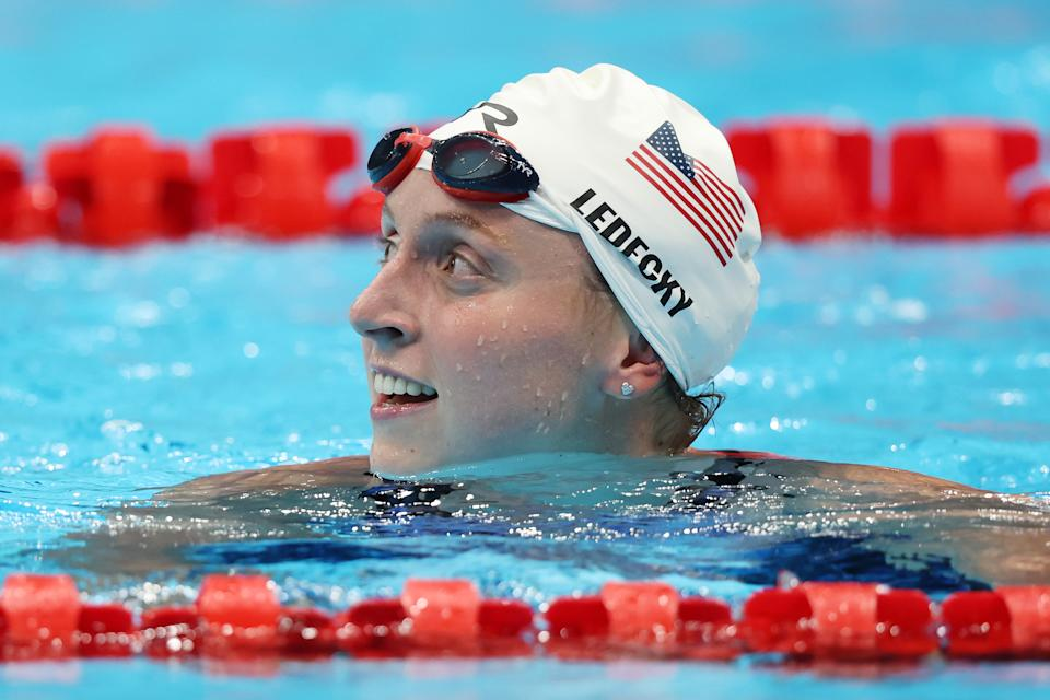 Unlike in other races, Katie Ledecky figures to have some competition in the 400-meter freestyle, namely Australia's Ariarne Titmus. (Photo by Tom Pennington/Getty Images)