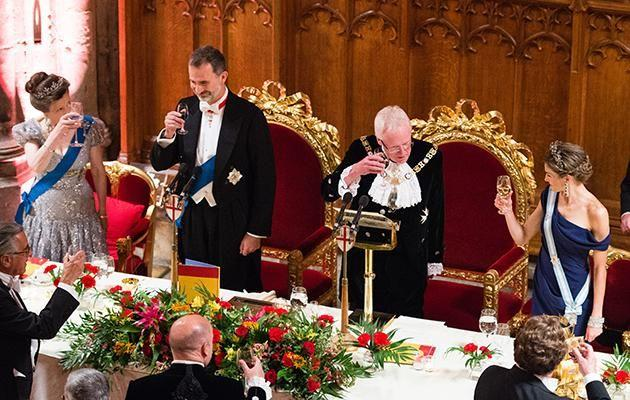 Princess Anne held a royal dinner to welcome the King and Queen. Photo: Getty