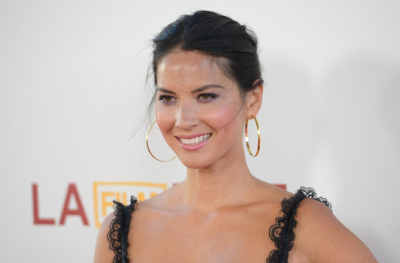 LOS ANGELES, CA - JUNE 24:  Actress Olivia Munn arrives at the closing night gala premiere of 'Magic Mike' at the 2012 Los Angeles Film Festiva held at Regal Cinemas L.A. Live on June 24, 2012 in Los Angeles, California.  (Photo by Jason Merritt/Getty Images)