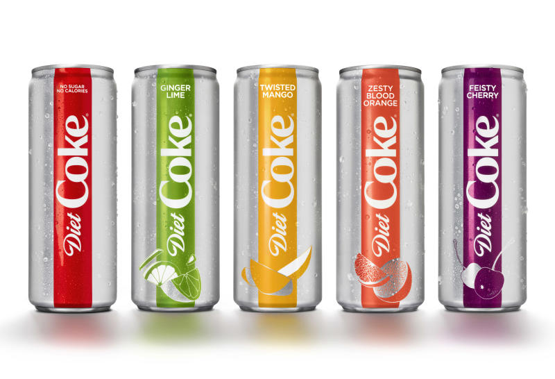 Diet Coke Gets New Look New Flavors Amid Sinking Sales