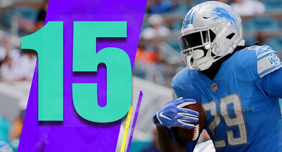 <p>The Lions can run the ball all of a sudden? Kerryon Johnson had 158 yards Sunday and LeGarrette Blount added 50 and a TD. (LeGarrette Blount) </p>