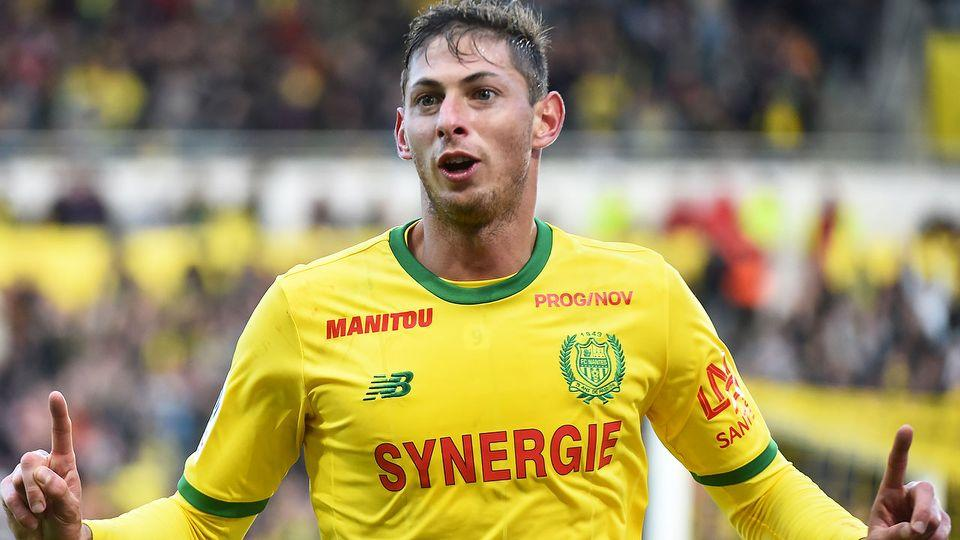 Pictured here, Emiliano Sala during his time with French club Nantes.