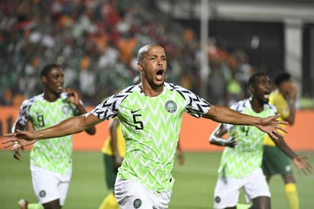 William Troost-Ekong won it at the death for Nigeria to leave South Africa heartbroken (AFP Photo/Khaled DESOUKI)