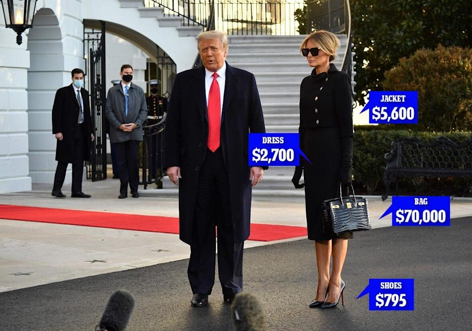 Melania carries $70,000 purse on last day in DCGetty