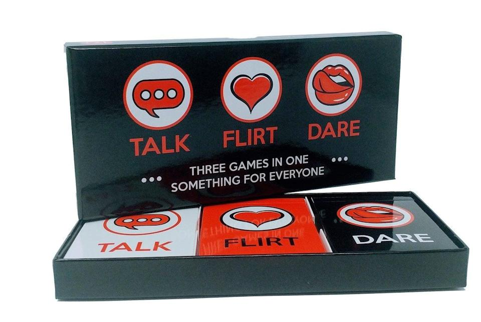 <p>Have a fun, sexy night in with the <span>Talk Flirt Dare</span> ($25, originally $26) game for couples.</p>