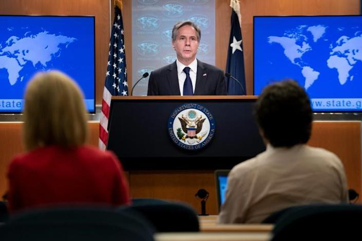 US Secretary of State Antony Blinken accuses Iran of carrying out an attack against an Israeli-linked tanker