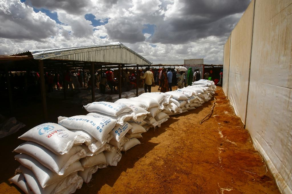 A picture taken May 18, 2017 shows South Sudanese refugees at a UN camp in al-Waral, in Sudan's White Nile, the state which UNICEF said was the most affected by acute diarrhoea, with more than 5,800 reported cases (AFP Photo/ASHRAF SHAZLY)