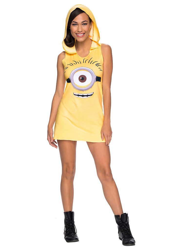 """<p>Turning the adorable yellow creature into <a href=""""http://www.partycity.com/product/minion+hooded+tank+dress+minions+movie.do?sortby=ourPicks&navSet=110777"""" rel=""""nofollow noopener"""" target=""""_blank"""" data-ylk=""""slk:a barely there costume"""" class=""""link rapid-noclick-resp"""">a barely there costume</a> could be called """"despicable.""""<br>(Photo: Partycity.com) </p>"""