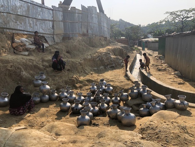 This is an everyday still of all the camps, that depicts the palpable water crisis in the camps especially during the hot summers.