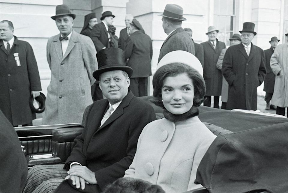 John F. Kennedy and Jackie Kennedy at the 1961 Inauguration