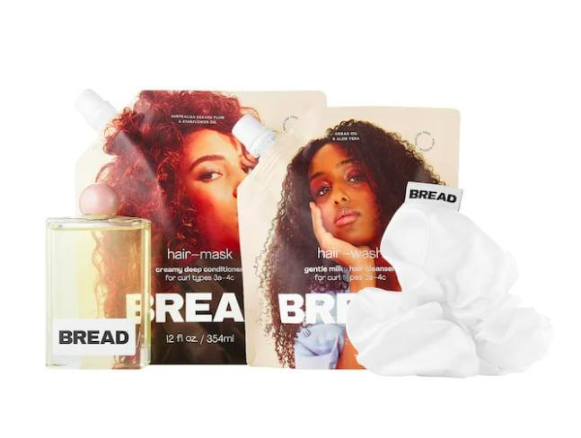 <p>The <span>Bread Beauty Supply Wash-Day Essentials Kit for Curly & Textured Hair</span> ($58) has everything you need for a luxurious and easy wash day experience. Inside the kit is the Hair Wash Gentle Milky Hair Cleanser, Hair Mask Creamy Deep Conditioner, Hair Oil Everyday Gloss, and Bread-Puff Scrunchie.</p>