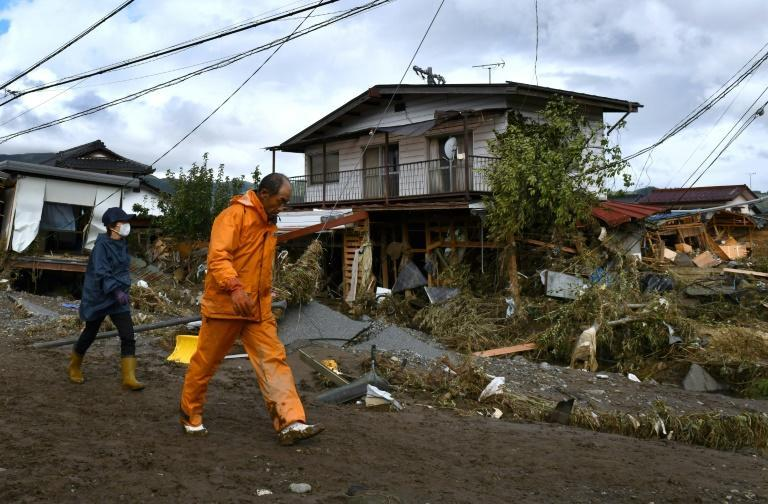 Japan was hit by deadly typhoon Hagibis about two weeks ago (AFP Photo/Kazuhiro NOGI)
