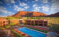 """<p><a rel=""""nofollow noopener"""" href=""""https://www.redmountainresort.com/"""" target=""""_blank"""" data-ylk=""""slk:Red Mountain Resort, in the red rock cliffs of Utah"""" class=""""link rapid-noclick-resp"""">Red Mountain Resort, in the red rock cliffs of Utah</a>, has a blend of relaxation activities and challenging physical workouts. You can explore nearby Bryce Canyon and Zion National Parks with <a rel=""""nofollow noopener"""" href=""""http://www.travelandleisure.com/hotels-resorts/us-nature-resorts-spas"""" target=""""_blank"""" data-ylk=""""slk:hiking and rock climbing activities"""" class=""""link rapid-noclick-resp"""">hiking and rock climbing activities</a>, or relax in the spa and salon.</p> <p>Also offered are specific retreats that focus on weight loss, weekend warriors, or emotional healing and personal discovery.</p>"""