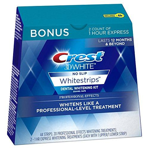 Crest 3D White Professional Effects Whitestrips 20 Treatments + Crest 3D White 1 Hour Express Whitestrips 2 Treatments - Teeth Whitening Kit (Amazon / Amazon)