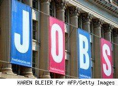 jobs spelled out on building